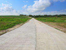 Wide construction concrete road Royalty Free Stock Photos