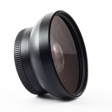 Wide converter lens. E on a white background Royalty Free Stock Photos
