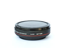 The wide converter lens. For digital camera Stock Photo