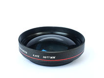 The wide converter lens. For digital camera Royalty Free Stock Image