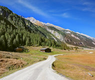 Wide dirt road in Stock Photography
