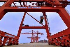 Wide dock area, Xiamen, Fujian, China Royalty Free Stock Image
