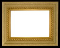 Wide edge gold frame Stock Photography