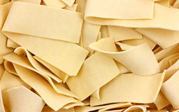 Wide Egg Noodles Close View Royalty Free Stock Photos