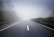 Wide and empty highway Royalty Free Stock Photos
