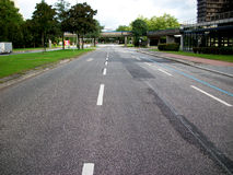 Wide empty street. In the city Stock Photos
