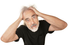 Wide Eyed Senior Male Stock Photography