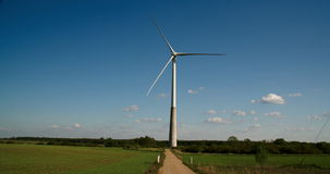 The wide field where the windmill is located 4K FS700 Odyssey 7Q Stock Photography