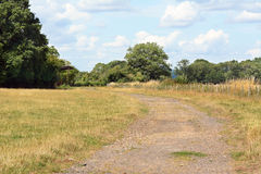 Wide footpath leads into the distance Royalty Free Stock Image