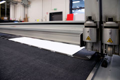 Wide format cutter. Cutter system for cutting a wide range of superwide-format applications stock images