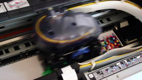 Wide format digital printer stock footage