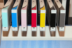 Wide format inkjet cartridges Royalty Free Stock Image