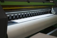 Wide-format inkjet printer stock photo
