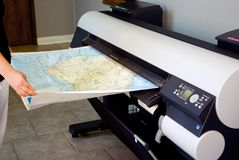 Wide Format Printer (Plotter) Royalty Free Stock Photos