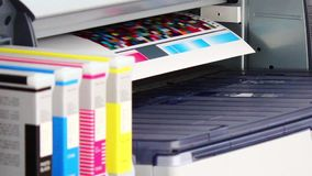 Wide Format Printer Plotter Stock Photography