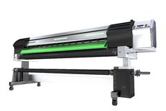 Wide Format Printer Plotter Stock Photo