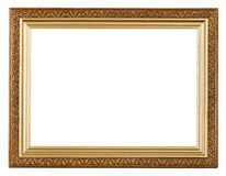 Wide gold picture frame Stock Photo