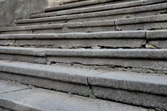 Wide gray stone steps stock image