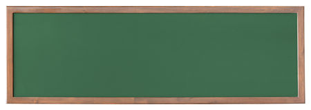 Wide green blackboard cutout Stock Image