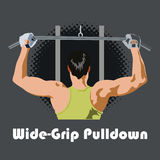 Wide grip pulldown Stock Images