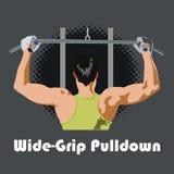 Wide grip pulldown stock illustration