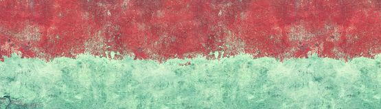 Wide grunge background - old concrete wall texture with cracked paint stock image