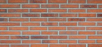 Wide grunge vintage decoration red brick wall background- Royalty Free Stock Photography