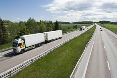 Wide highway view Stock Photography