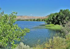 Wide Hollow Reservoir. Is an off-stream reservoir of the Escalante River in southern Utah Royalty Free Stock Photos