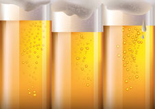 Wide horizon beer in glass background for Oktoberfest,. Gradient mesh Stock Image