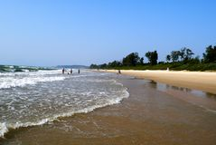 Wide infinite beaches of the State of GOA in India Stock Image