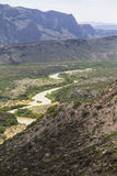 Wide landscape of Big Bend National Park Royalty Free Stock Image