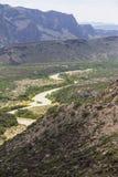 Wide landscape of Big Bend National Park Royalty Free Stock Image
