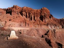 Red rocks. Wide landscape in dades valley, Morocco Africa stock images