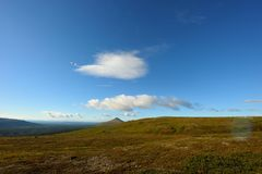 Wide landscape in sweden. The nipfjället nature reservat in sweden Royalty Free Stock Photo