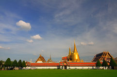 Wide Landscape of Wat Phra Kaew Royalty Free Stock Images