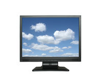 Wide lcd with gorgeous sky Royalty Free Stock Photo