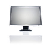 Wide LCD monitor. 22 inch wide LCD monitor isolated on white Stock Image