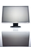 Wide LCD monitor. 22 inch wide LCD monitor isolated on white Royalty Free Stock Images