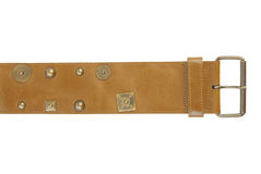 Wide leather belt | Isolated Royalty Free Stock Photo