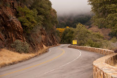 Wide life on the road. Sign on road 198 in Sequoia National Park, California Royalty Free Stock Images