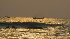 Fishing boats at Sunset, Ngapali Beach, Myanmar