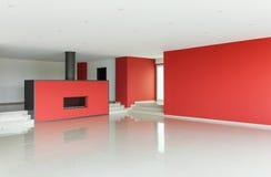 Wide modern living room Stock Image