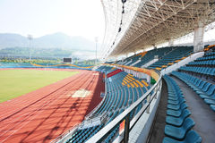 wide modern stadium Stock Images