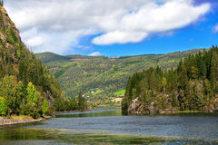 Wide mountain river in Norway Stock Images