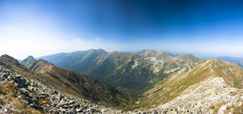 Wide mountains panorama Stock Photography