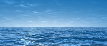 Wide ocean. 3d rendered illustration of the wide ocean vector illustration