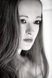 Wide open aperature portrait of beautiful brunette Stock Photography