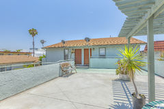 Wide open deck for multiple apartment in the entry area. Outdoors in Southern California homes ready for real estate listings Stock Images
