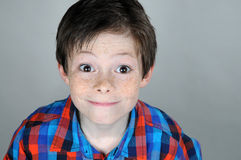 Wide open eyes. Boy with wide open eyes stock images